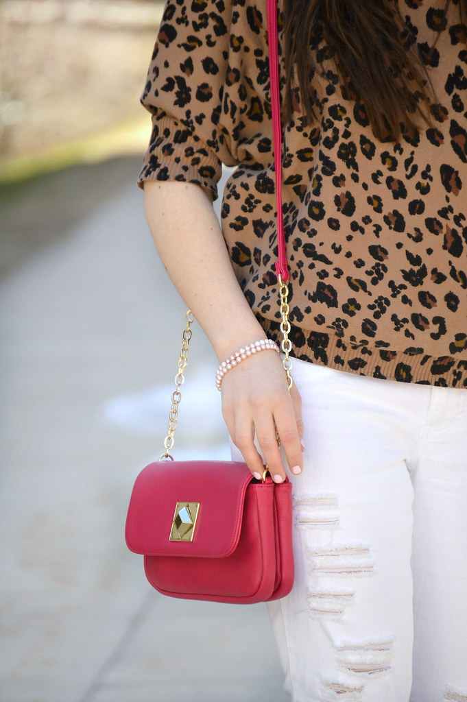 cheetah print and hot pink bag