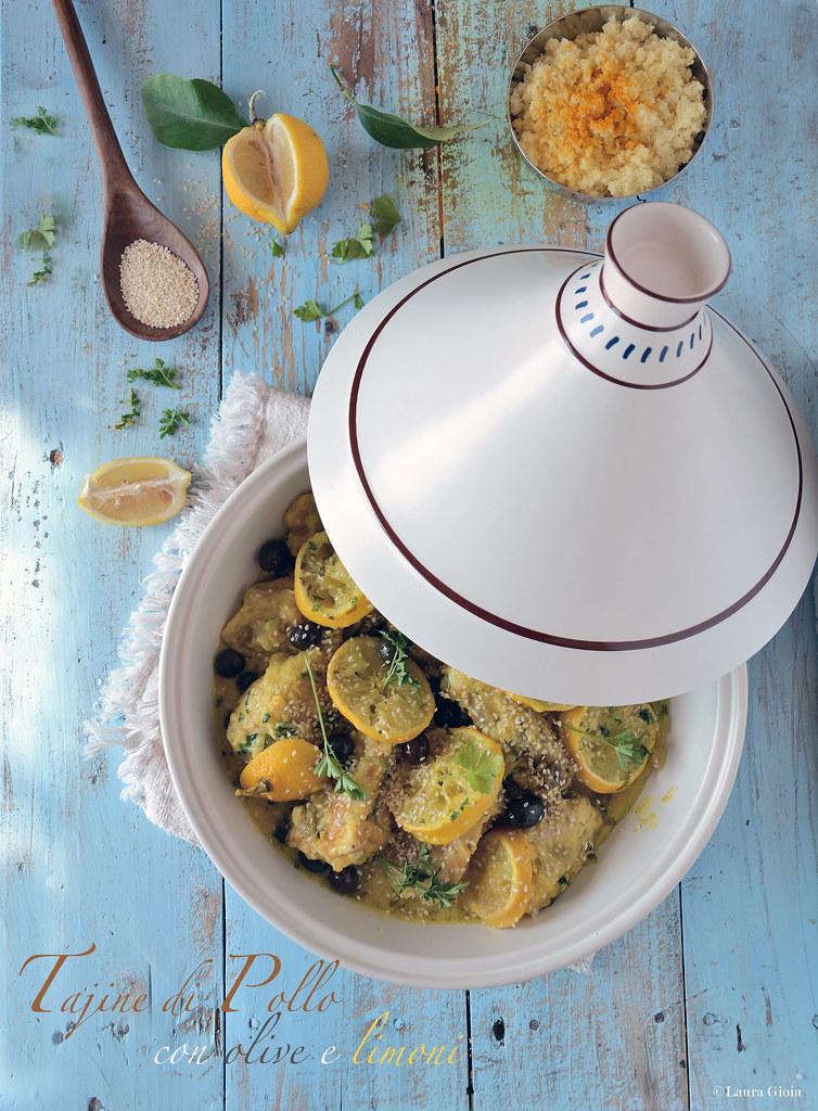 tajine di pollo con olive e limoni