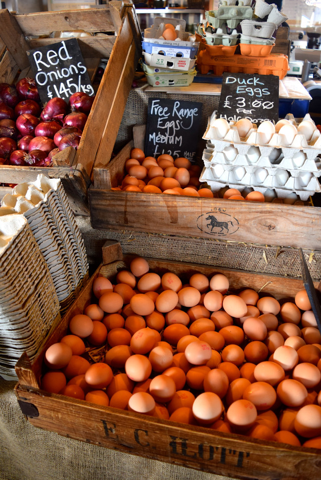 Fresh Eggs at The Goods Shed, Canterbury