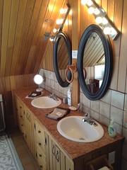 Salle de bain de la chambre Philippe, au Champayeur.