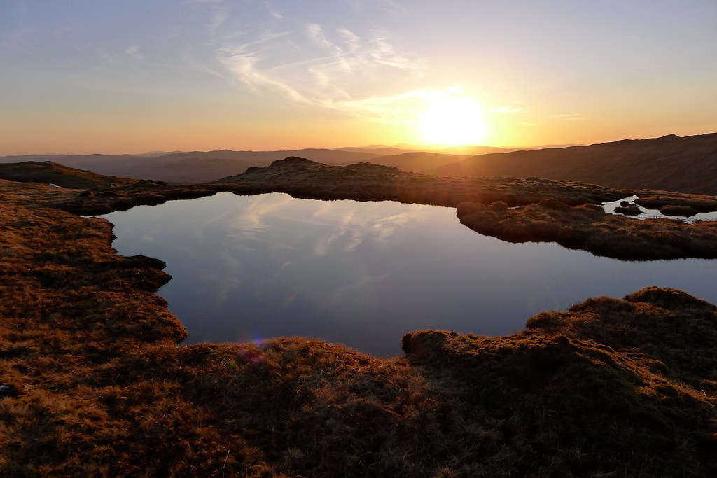 Beinn Chas pool at sunset