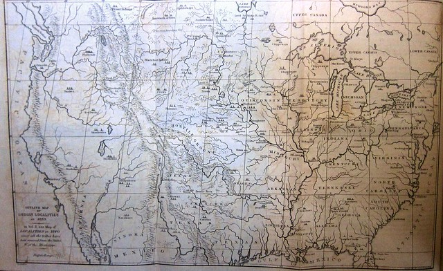 catlin map of indian localities