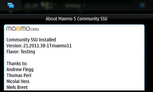 About Maemo5 CSSU Ver21.2011.38-1Tmaemo11