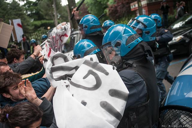 Salvini dal rettore, contestazione e cariche a Ingegneria
