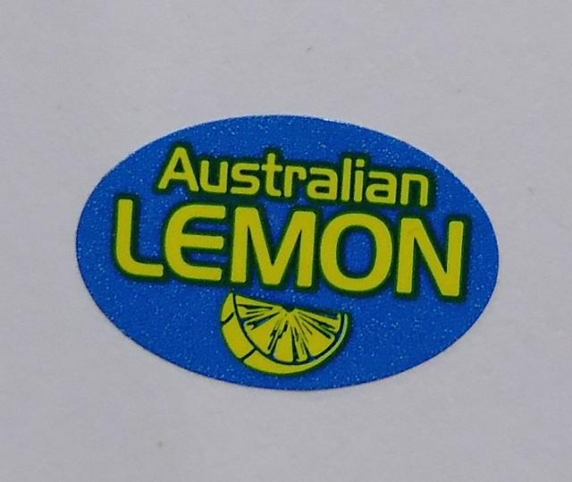 Fruit sticker Aust Lemon, Panasonic DMC-XS1
