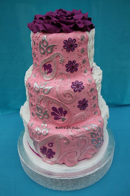 Indian Saree Wedding Cake by Shushma Leidig of SK Cakes