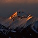 Sunset on the Alpes mountain. by ggberry1967