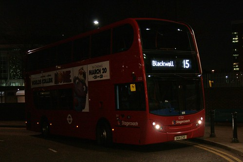 Stagecoach London 12321 on Route 15, Blackwall