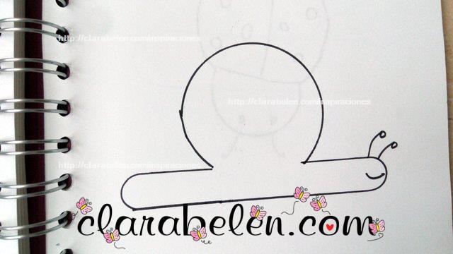 Aprender a dibujar un caracol con tapones y palitos de polo