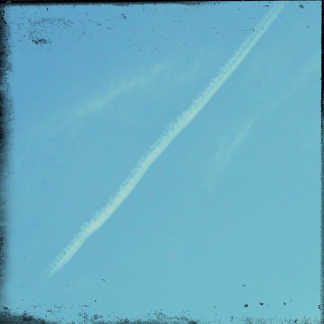Contrail in the sky