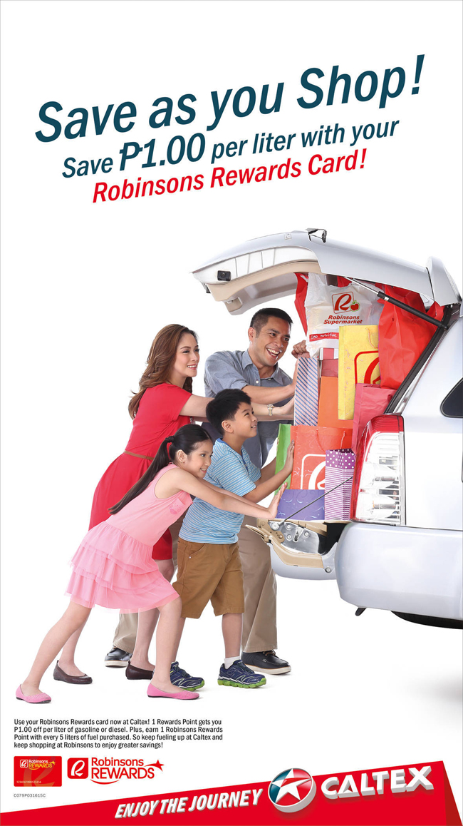 Caltex gives Robinsons Rewards Card members more fuel discounts and shopping savings