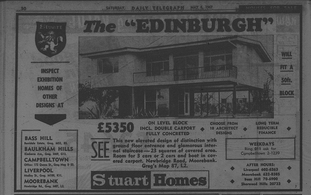 Stuart Homes Ad May 6 1967 daily telegraph 30