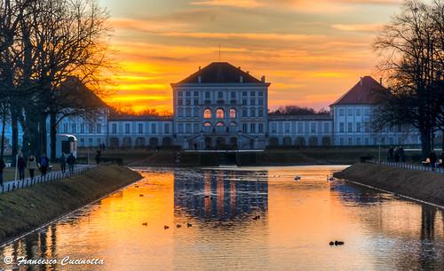 sunset germany munich münchen bayern deutschland tramonto sonnenuntergang monaco germania schlossnymphenburg