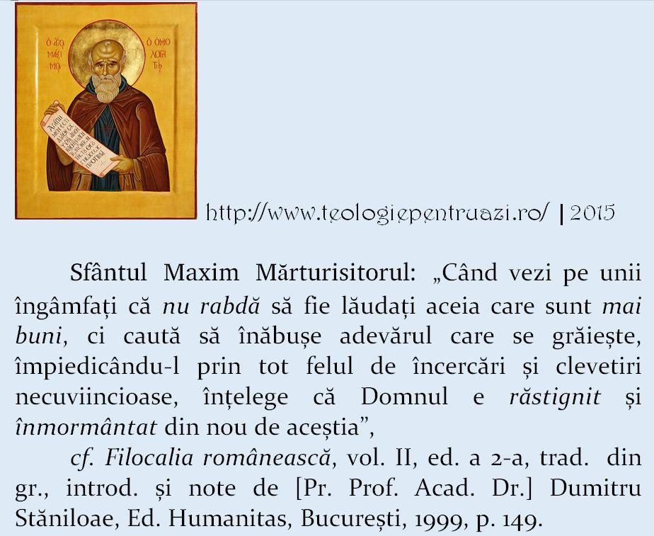 Sfantul Maxim Marturisitorul citat