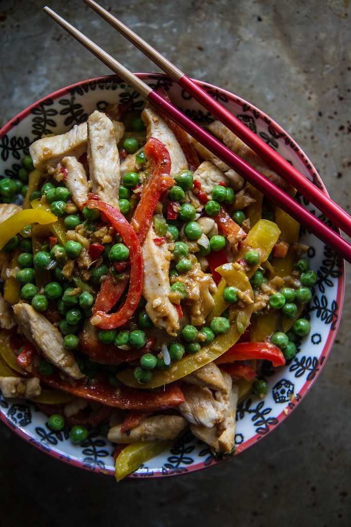 Chicken Ginger Tahini Stir fry