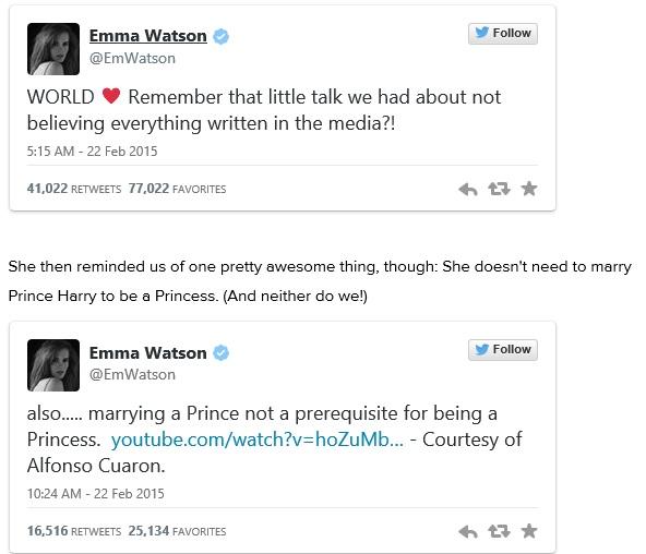 EmmaWatson response
