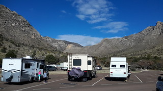 Charley in Pine Springs campground in the Guadalupe Mountains NP - this is a cool spot right in the canyon
