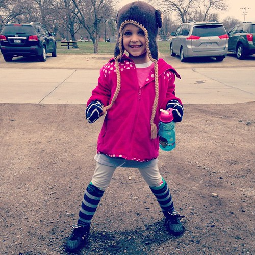 The youngest dressed herself for her first soccer practice...