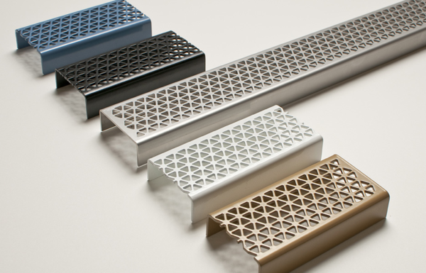 The linear grate helps creates a streamlined look for contemporary homes