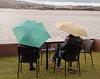 """White wine, a view, and umbrellas for the rain"" - Hobart, Tasmania"