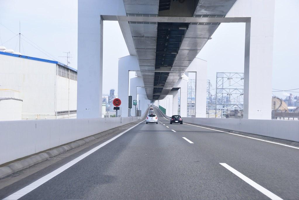 Eastbound Lane of Shutoko K6 in Ukishima