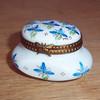 Vintage Limoges France Porcelain Box Hand Painted Peint Main Artist Signed MC