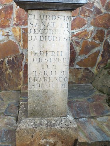 Inscripción latina en la Fuente