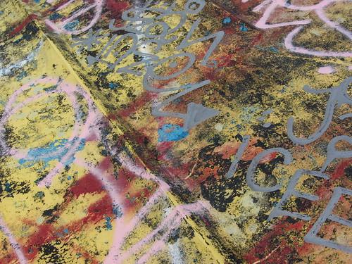 graffiti on abandoned boat