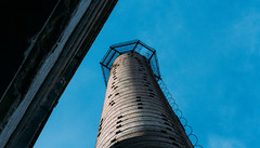 blue sky and factory chimney