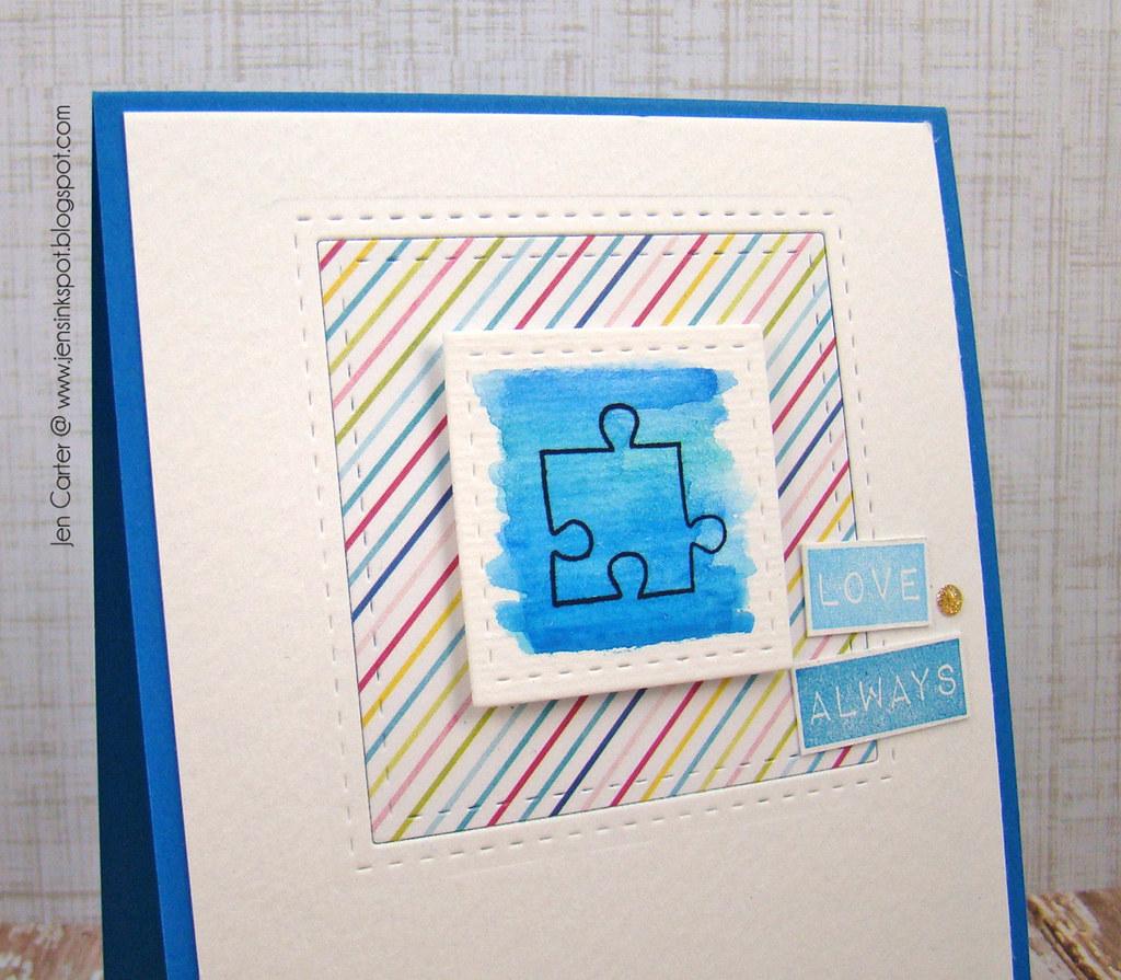 Jen Carter Lil' Inker Autism Blue Closeup