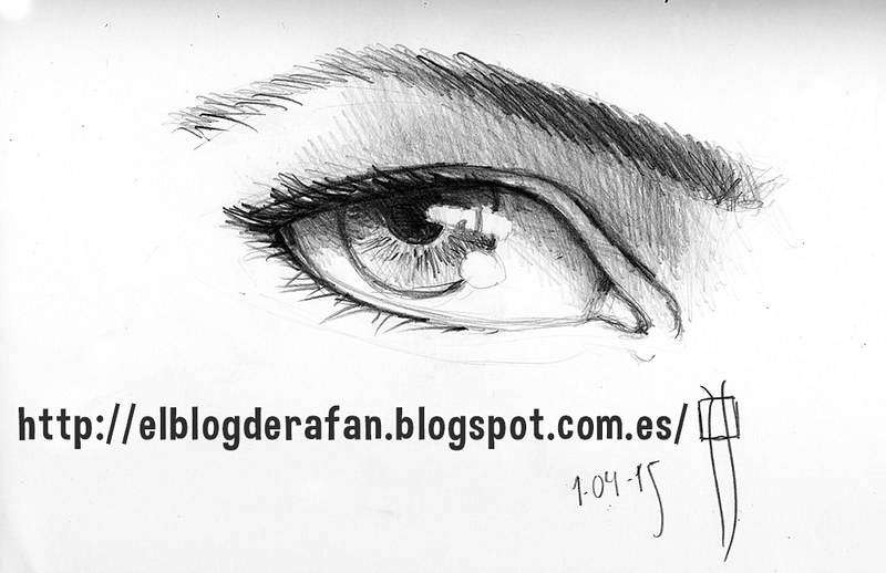 pencil eye. Sketch
