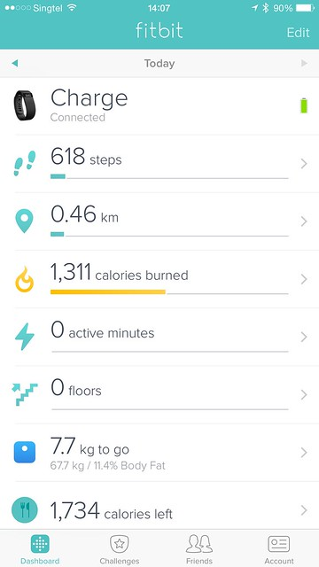 Fitbit iOS App - Fitbit Charge Connected