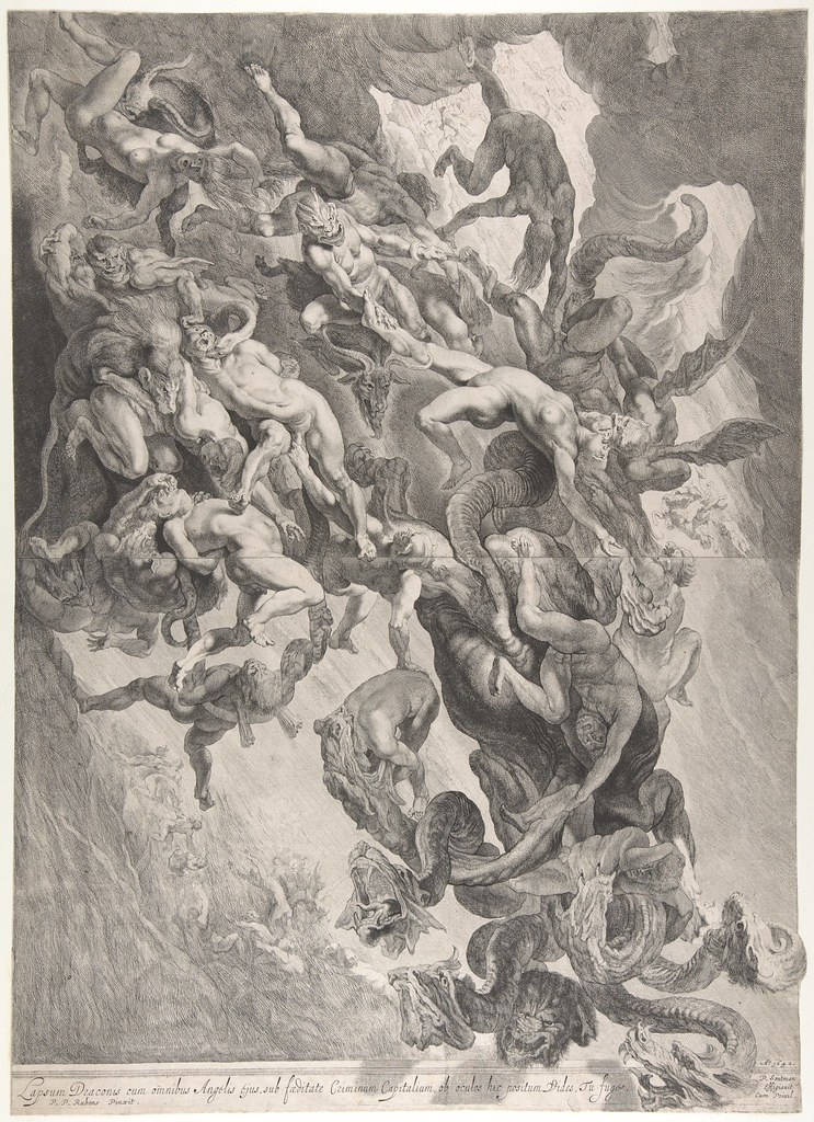 Pieter Soutman - The Fall of the Damned, after Peter Paul Rubens, 1642