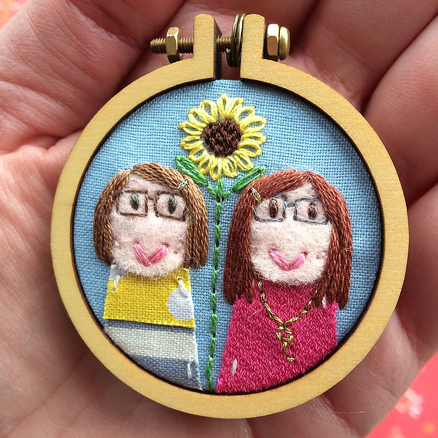 Dandelyne custom portrait of me and my sister