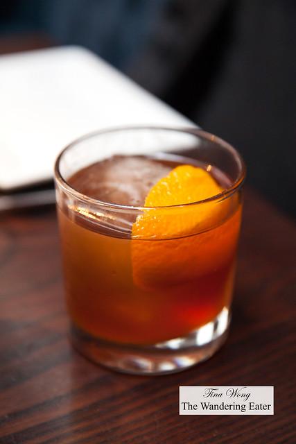 Quemar La Casa (Maker's Mark bourbon and Talisker 10-Year malt whiskey based cocktail)