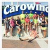 With Club 22:6 at Carowinds.  (Photographer can't be in the picture).