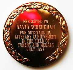 TAMS Literary award medal reverse