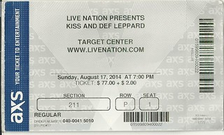 08/07/14 Kiss/ Def Leppard @ Target Center, Minneapolis, MN