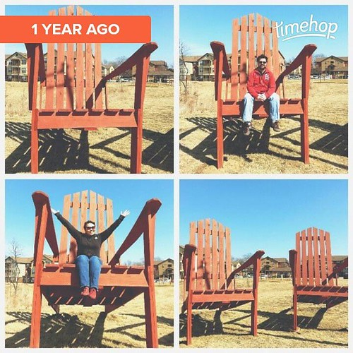 Back to that one time when we sat on really large deck chairs. Oh Columbia, i sure do miss your randomness. #homesick