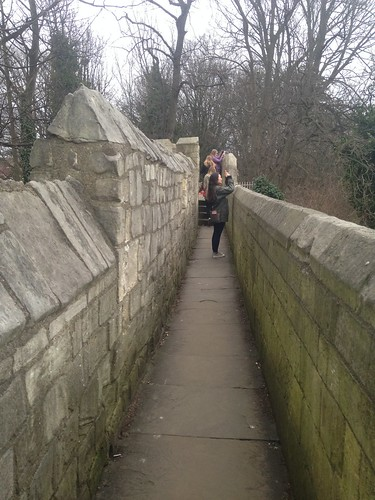 A defense wall made by the Romans during battle in York, England.