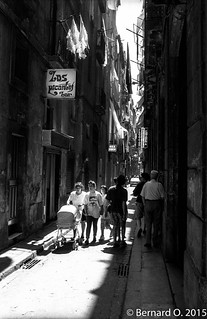 Barcelone 1990, rue du Barrio Chino