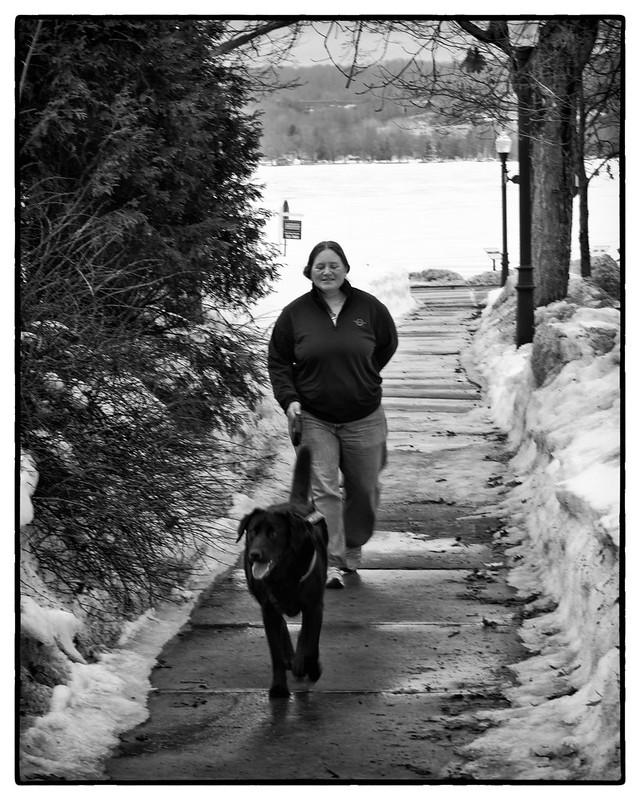 IMG_3798 Woman w Black Dog