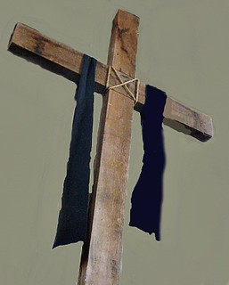 draped cross