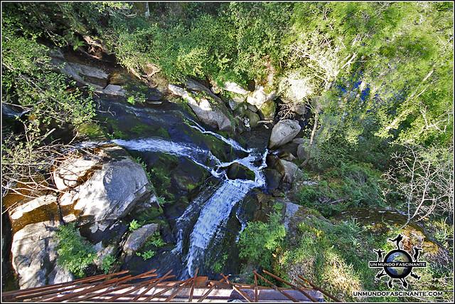 Cascada de Marta desde la pasarela, Valle del Jerte. España.
