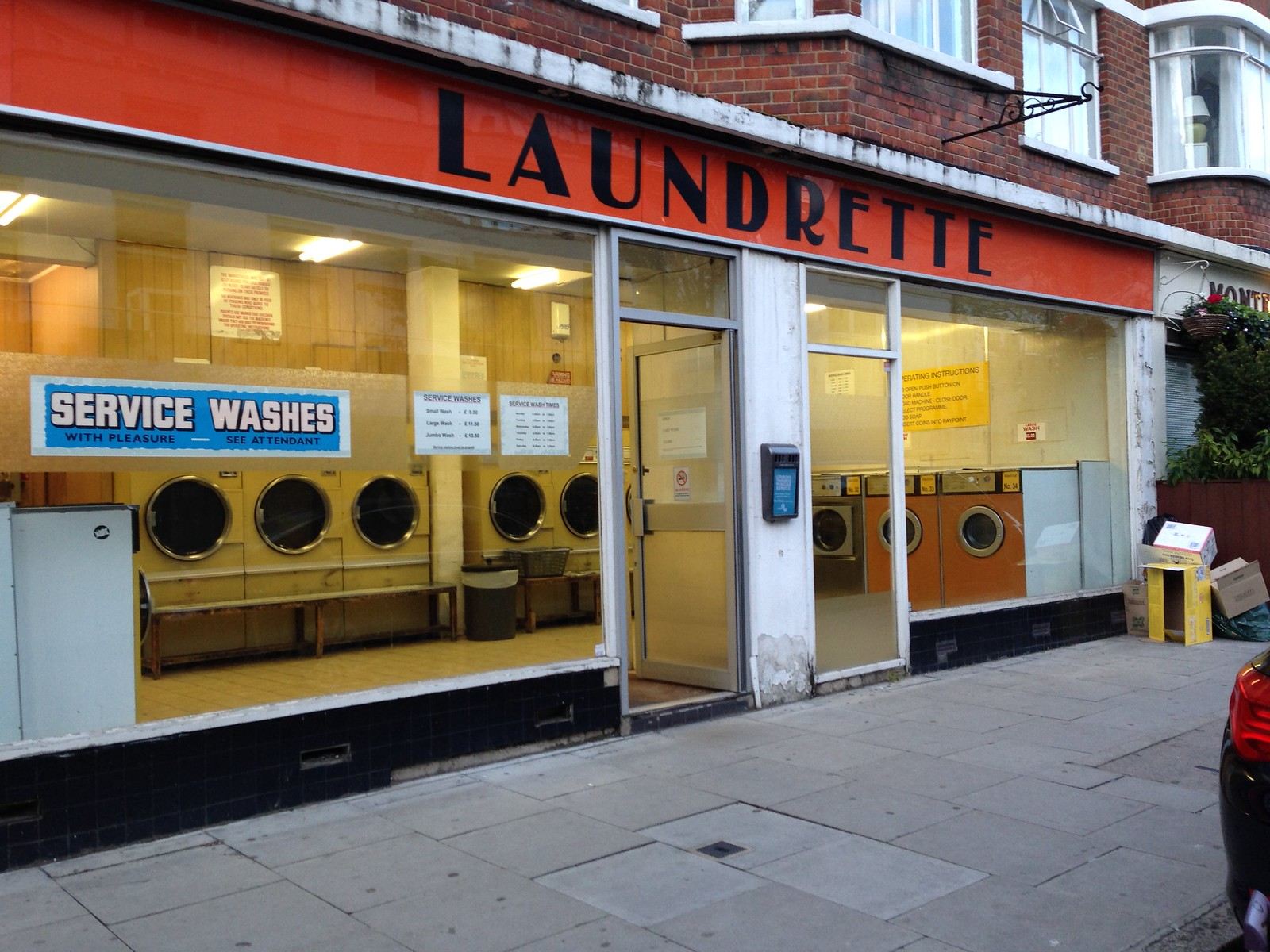 a street coin laundry