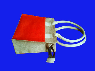 Burlap Ladies Hand Bag
