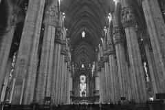 Milan - Duomo center columns