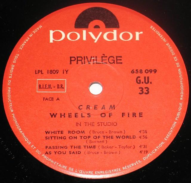"""CREAM Wheels of Fire 12"""" Vinyl LP album"""
