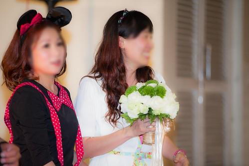 推薦婚宴場地:台南商務會館,米老鼠米奇的特殊結婚婚禮風格捧花