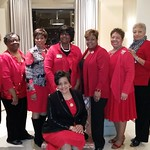 Pink goes red with CRD Soror Kathy W. Steele